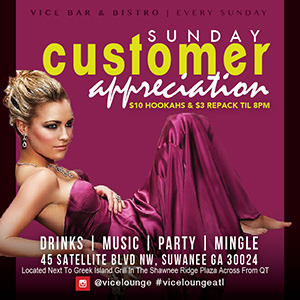 Atlanta gwinnett hookah lounge bar sundays VICE FLYERS10-01